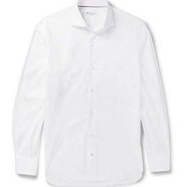 Loro Piana - Albert Slim-Fit Cutaway-Collar Cotton Shirt