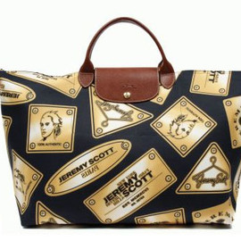 "LONGCHAMP - JEREMY SCOTT × LONGCHAMP ""GOLD PLATES"" PLIAGE BAG"