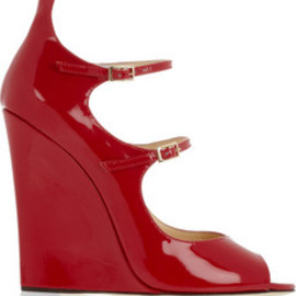 JIMMY CHOO - patent-leather wedges