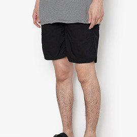 NONNATIVE - PLAYER EASY SHORTS C/P TYPEWRITER STRETCH COOLMAX