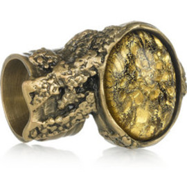 Yves Saint Laurent - Arty gold-plated glass ring