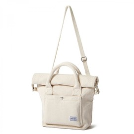 "HEAD PORTER - ""BANFF"" 2WAY TOTE BAG (S) OFF WHITE"
