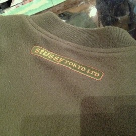 "Stussy - 「<used>1996 Stussy FLEECE MA-1 armygreen""made in JAPAN"" size:M 10000yen」完売"