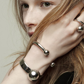 Jennifer Fisher - Double Ball Cuff + Large Single Ball Cuff