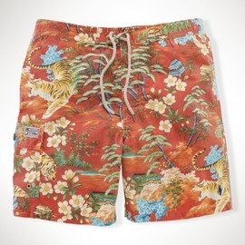 POLO RALPH LAUREN - Tiger Floral-Print Swim Trunk