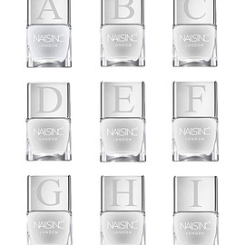 NAILS INC - Alphabet cap -A to Z-