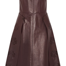 Alexander McQueen - Resort2015 Laser-cut leather dress