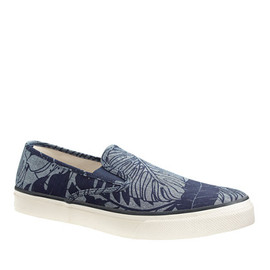 J.CREW - Sperry Top-Sider® for J.Crew CVO slip-on sneakers in printed chambray