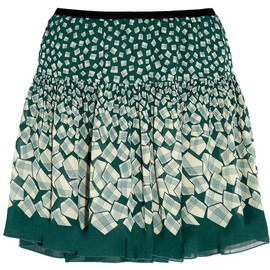 ANNA SUI - Letters printed georgette mini skirt