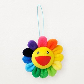 Kaikai Kiki - Murakami Plush Rainbow Flower Pin and Key Chain