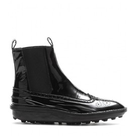 BALENCIAGA - Patent leather ankle boots