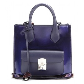 BALENCIAGA - Padlock Mini All Afternoon patent leather tote