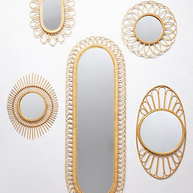 Anthropologie - Midcentury Wicker Mirror