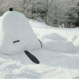 Snoopy Snow Sculpture
