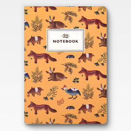 Clap Clap - Forest Animals Notebook - Yellow -