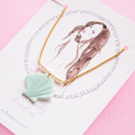 a cloudy dream - candy necklace shell+pearl large MINT