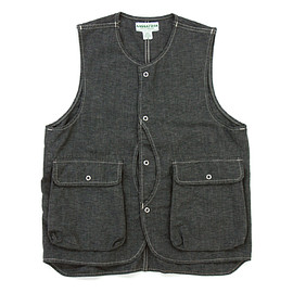 SASSAFRAS - PLANT HUNTER VEST|GRAY(5oz CHAMBRAY)
