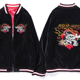 Stussy - NY Dragon Souvenir Reversible Jacket