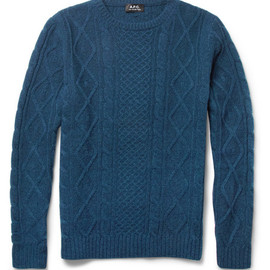 A.P.C. - Cable-Knit Wool