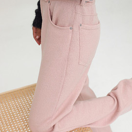 AURALEE - WOOL FINE SPINNING HEAVY KNIT 5P PANTS
