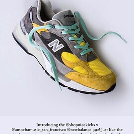 New Balance, Amoeba Music, Nice Kicks - M992 - Peace Through Music