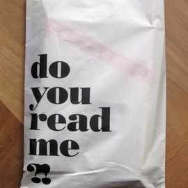 do you read me?! - paper bag