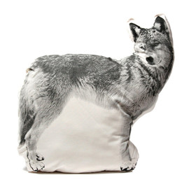 ross menuez  - large pillow - wolf