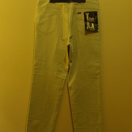 Lee - 1960's  Leens White Twill Pants