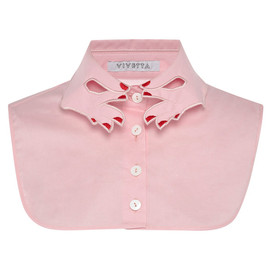 VIVETTA - Pink Hands Collar Dickie With Red Nails