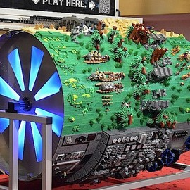 Giant LEGO Star Wars Barrel Organ