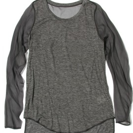 3.1 Phillip Lim - l/s tee combo chiffon sleeves and seam detail