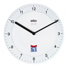 Braun - Braun 66013 Radio-Controlled Wall Clock White