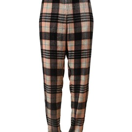 DRIES VAN NOTEN - -  Checked Velvet Trousers