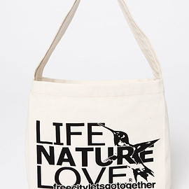 FREE CITY - LIFE NATURE LOVE CANVAS SMALL BOOK BAG