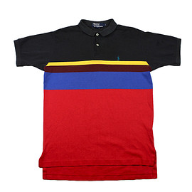 POLO RALPH LAUREN - Vintage Polo by Ralph Lauren Striped Polo Shirt Made in USA Mens Size Medium