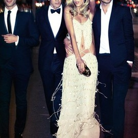 style icon - Anja Rubik joins Spanish top models in the March 2011 issue of Vogue España.