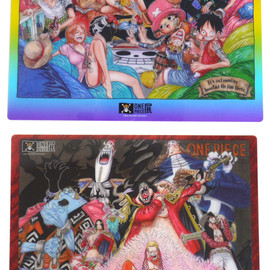 ONEPIECE展 - ONEPIECE展限定アイテムB5下敷きセット麦わらの一味+王下七武海Ver.MULTI290-002094-019+【新品】