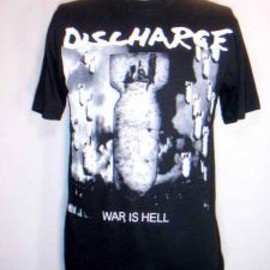 FUUDOBRAIN - DISCHARGE JAPAN TOUR 09' T-SHIRTS WAR IS HELL (BLACK)