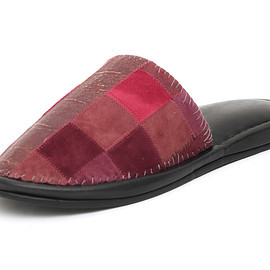 NADA. - Pachwork leather slippper / Wine