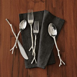 west elm - Twig Flatware 5-pc. Set - Silver