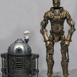 R2D2 and C3PO as steampunk-characters