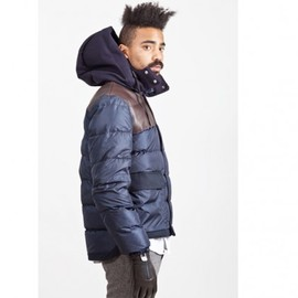 MARNI - Down Jacket :wool-nylon-leather /2012AW