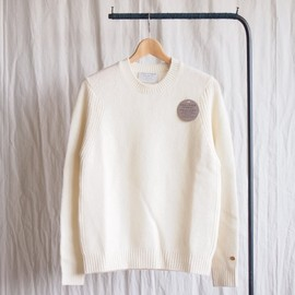 MOEVE AND MORROW KNITWEARS - CREWNECK SWEATER #natural white