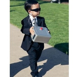 wedding - A ring bearer who's also a high-security agent.