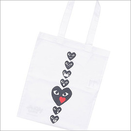 COMME des GARCONS - HOLIDAY emoji TOTE BAG WHITE