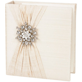 Jan Sevadjian designs - Ivory Silk with Snowflake Brooch Photo Album
