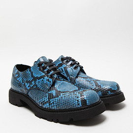 JIL SANDER - Snake Skin Print Derby Shoes