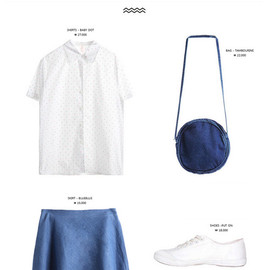 MIXXMIX - COORDINATION: white/denim blue