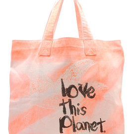 love this planet - kitson exclusive neon tote