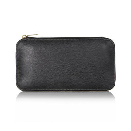 Valextra - Round zip wallet 6cc (dark gray)